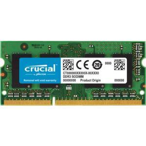 Crucial 4GB(4GBx1) DDR3 1600MHz(PC3-12800) CL11 SODIMM 204pin 1.35V/1.5V |CT51264BF160B|itempost