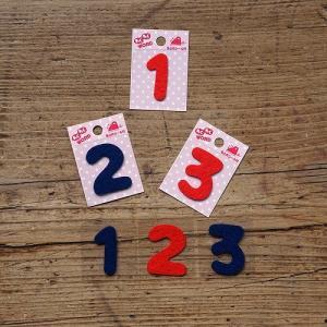 10枚セットアイロン接着文字・数字ワッペン「わくわくワード」数字・小さい文字・濁点