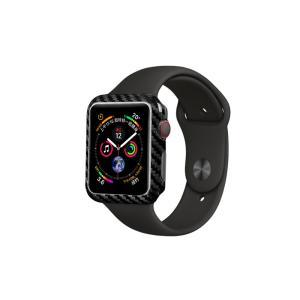 Apple Watch 44mm 【 100% リアルカーボン 】 ケース  超軽量 高強度  アップルウォッチ プロテクティブ ケース  【 ブラック 】 itempost
