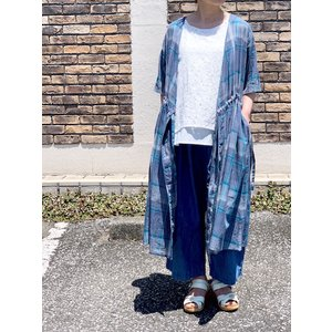 SOIL/ソイル   80'S VOILE YARN DYED CHECK CACHE COEUR S/SL DRESS  ・ INSL20224|itempost