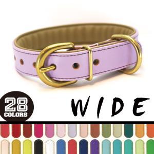 [#A71XX-WIDE25mm]サクラ犬具製作所 本革H.B.カラーワイド 中型・大型犬用 抗菌・...
