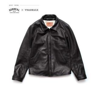 SURREAL HARVEY Cowhide Leather Jacket カラー:BLACK 【シュルリアル】【レザージャケット】【スケートボード】【SKATEBOARD】