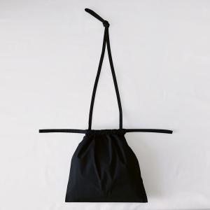 [ 再入荷 ]formuniform[フォームユニフォーム]Drawstring Bag S With Strap-ショルダー付巾着バッグSブラック itempost