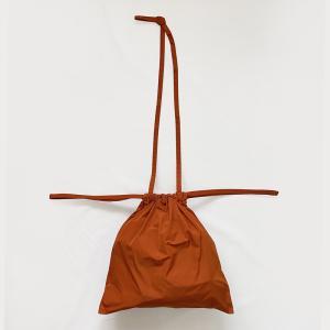 [ 新色入荷 ]formuniform[フォームユニフォーム]Drawstring Bag S With Strap-ショルダー付巾着バッグSオレンジ itempost