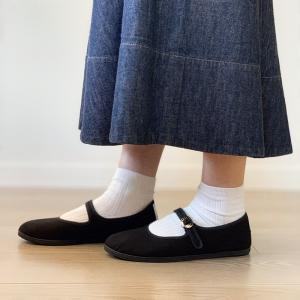 【SALE】LA CADENA 'JAPONESA' One strap shoes ラ カデナ キャンバス ワンストラップシューズ|itempost