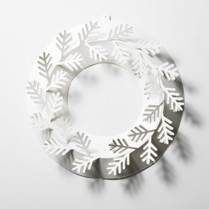 もみの木 S ペーパー リース 樅 シンプル ホワイト メール便 対応 Paper Wreath 紙 白 おしゃれ 飾り オーナメント インテリア クリスマスの画像