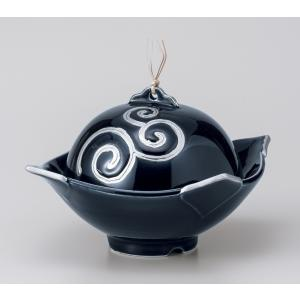 〔美濃焼 蓋物特選〕 瑠璃プラチナドーム型蓋物|itibei