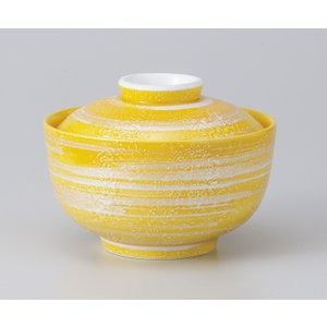 〔美濃焼 蓋物特選〕 銀彩黄交趾円菓子碗|itibei