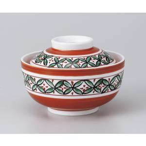 〔美濃焼 蓋物特選〕 赤絵七宝円菓子碗|itibei