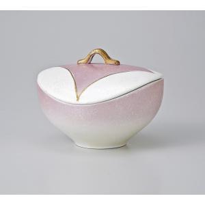 〔美濃焼 蓋物特選〕 ピンク吹七宝紋蓋物|itibei