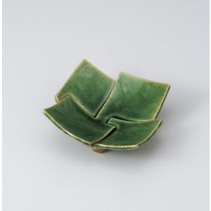 〔美濃焼 松花堂〕 織部足付四枚重松花堂皿|itibei