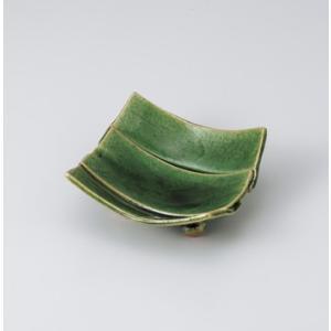 〔美濃焼 松花堂〕 織部足付三枚重松花堂皿|itibei