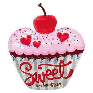〔バレンタイン〕チャーミィパック ラージSHP スウィートバレンタインカップケーキ(1枚) ×5|itibei