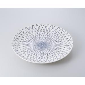 〔萬古焼 盛込皿〕  アミメ12.0皿|itibei
