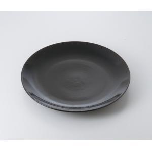 〔萬古焼 盛込皿〕  ゆず天目 13.0丸皿|itibei