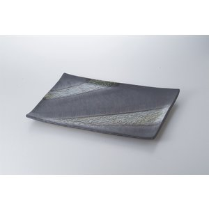 〔萬古焼盛込皿〕 手造り14.0菱型皿|itibei