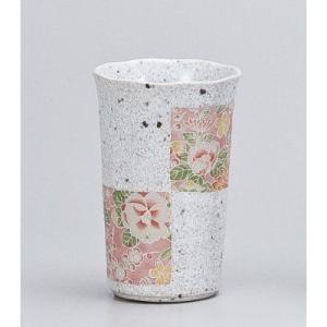 〔フリーカップ 美濃焼〕 花友禅チューハイカップ 白|itibei