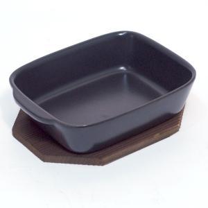 〔四日市万古焼 耐熱陶板プレート〕 トースター用グラタン皿(敷板付)|itibei