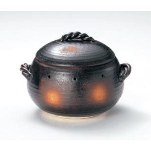 〔四日市万古焼 鍋〕 石焼きいも鍋 いも丸 (大) 天然石約300g2袋付|itibei