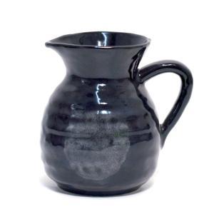 〔四日市万古焼 ギフト・雑品〕 レンジ用とっくり 黒釉|itibei