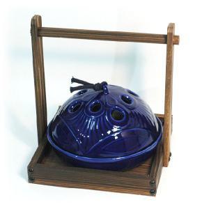 〔蚊取り器・蚊遣り器〕 お盆付蚊取器 ルリ|itibei