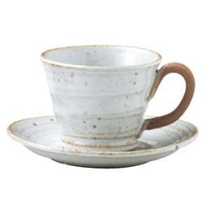 〔四日市万古焼 カップ&ソーサー〕 白釉 アメリカン碗皿|itibei