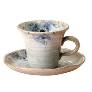 〔四日市万古焼 カップ&ソーサー〕 反型ぶどう 碗皿|itibei