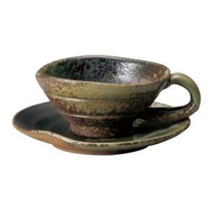 〔四日市万古焼 カップ&ソーサー〕 灰釉 碗皿|itibei