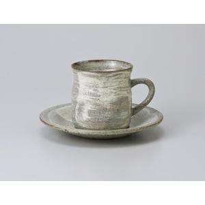 〔美濃焼 コーヒー碗皿〕 御本粉引コーヒーカップ&ソーサー|itibei