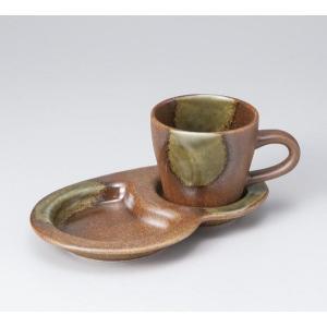 〔美濃焼 コーヒー碗皿〕 信楽風コーヒーカップ&ソーサー|itibei