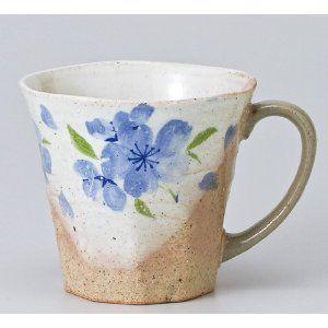 〔マグカップ 美濃焼〕八重桜マグ(ブルー) itibei