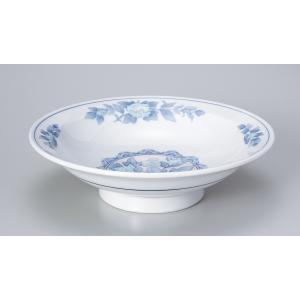 〔中華単品〕 三色牡丹7.0高台皿|itibei