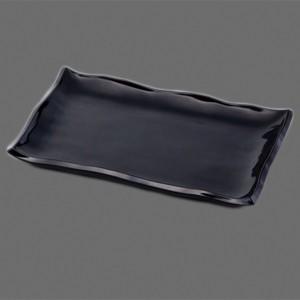 〔越前漆器 盛皿・角箱〕 10.0 白山盛皿 黒|itibei