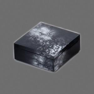 〔越前漆器 盛皿・角箱〕 4.0 角箱 黒/銀八雲|itibei