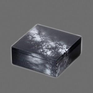 〔越前漆器 盛皿・角箱〕 4.5 角箱 黒/銀八雲|itibei