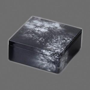 〔越前漆器 盛皿・角箱〕 5.0 角箱 黒/銀八雲|itibei