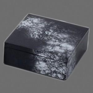 〔越前漆器 盛皿・角箱〕 6.0 角箱 黒/銀八雲|itibei