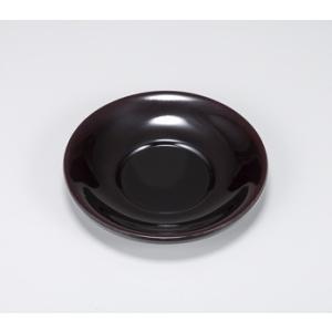 〔会津漆器 茶托・銘々皿(五枚組)〕 溜 4.0百合茶托5P|itibei