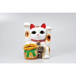 [常滑焼招き猫・蚊取り器] 両手上げ宝当猫8号|itibei