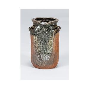 [花瓶(信楽焼)] ビードロ耳付|itibei