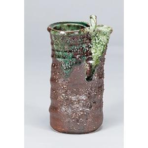 [花瓶(信楽焼)] 南蛮手付|itibei