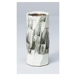 [花瓶(信楽焼)] 白化粧面取|itibei