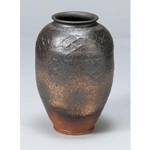 [花瓶(信楽焼)] 8号焼締(長)|itibei