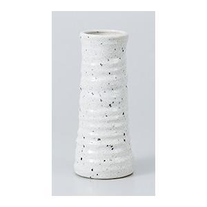 [花瓶(美濃焼)] 六兵衛口細花瓶 残雪|itibei