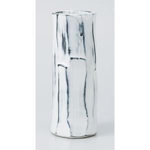 [花瓶(美濃焼)] 雪化粧八角ケズリ花瓶|itibei