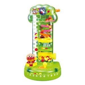 〔知育玩具〕アンパンマン くるくるコロコロりんごのなる木 (1個)|itibei