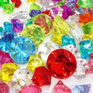 〔アクリルアイス〕 カラー宝石 カラー宝石 ダイヤ&アイスMIX (約1kg)|itibei