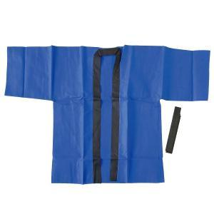 お祭りはっぴ(不織布)L青(1枚)|itibei