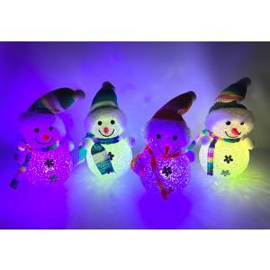 〔クリスマス景品〕スノーマンLEDイルミネーション 4個セット クリアケース入り itibei