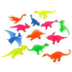 〔縁日すくいネタ〕すくい恐竜カラー (50〜70mm) 100個入り|itibei
